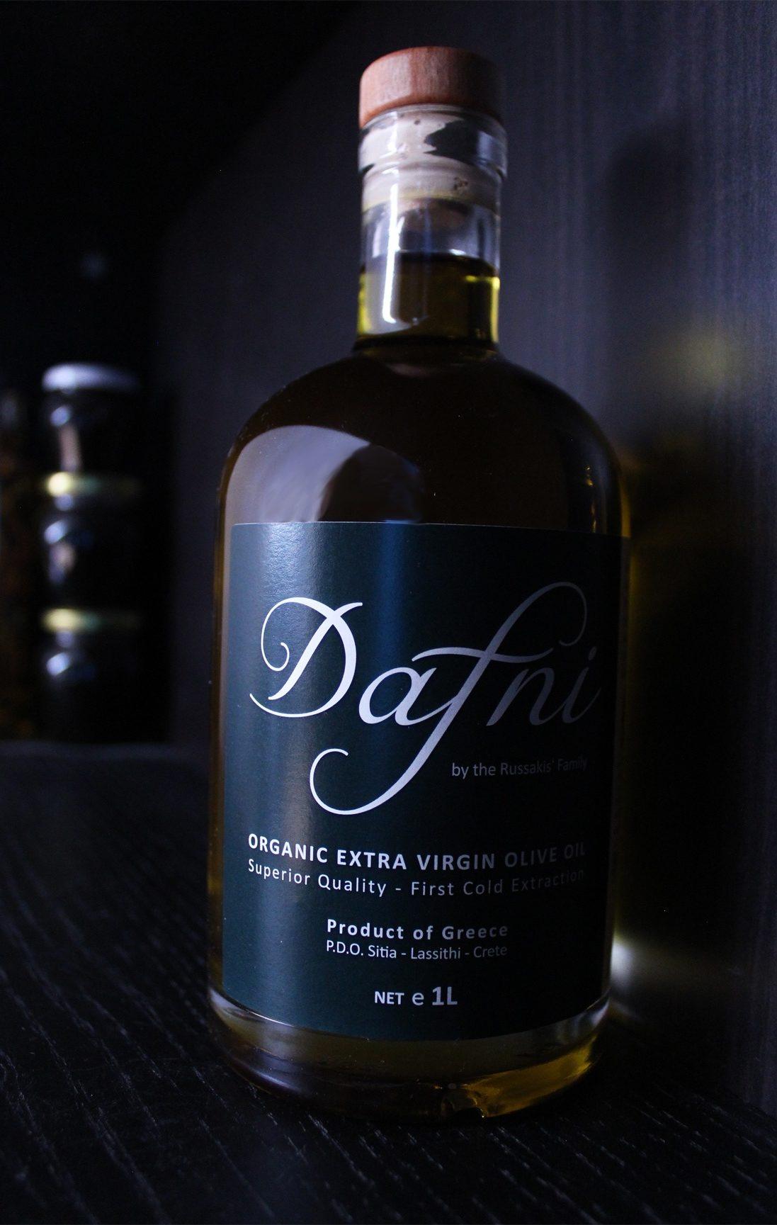 Organic extra virgin olive oil Dafni